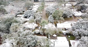 Snow In Houston TX Drone FT