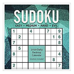 2019 Sudoku Daily Desk Calendar